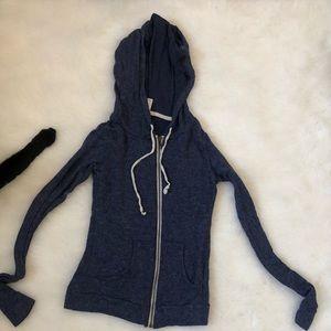 Dark blue zip up hoodie